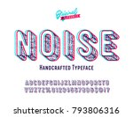 'noise' vintage sans serif... | Shutterstock .eps vector #793806316
