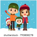 vector illustration of young... | Shutterstock .eps vector #793808278