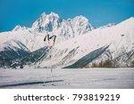 mountain ski resort  georgia ... | Shutterstock . vector #793819219