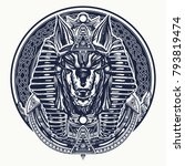 ancient egypt tattoo and t... | Shutterstock .eps vector #793819474