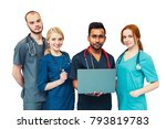 students medical young team... | Shutterstock . vector #793819783