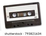 audio cassette tape isolated on ... | Shutterstock . vector #793821634
