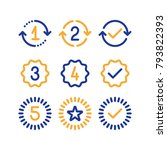 years of warranty stamp set ... | Shutterstock .eps vector #793822393