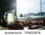 tables set for an event ... | Shutterstock . vector #793823878