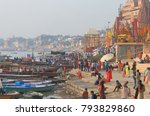 varanasi india   november 2 ...   Shutterstock . vector #793829860