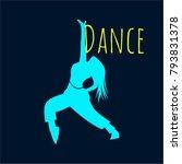 dance logo. young people dance... | Shutterstock .eps vector #793831378