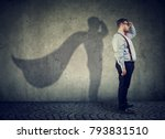 side view of a chubby man... | Shutterstock . vector #793831510