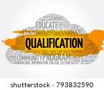 qualification word cloud ...   Shutterstock .eps vector #793832590