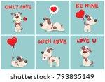 vector illustration card set... | Shutterstock .eps vector #793835149