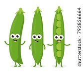 cartoon green peas isolated on... | Shutterstock .eps vector #793836664