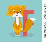 cute animal vector illustration....   Shutterstock .eps vector #793837714