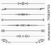 decorative dividers  set 43  | Shutterstock .eps vector #793839703
