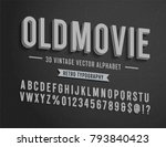 'old movie' vintage 3d noir... | Shutterstock .eps vector #793840423