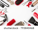 hair tools isolated on white...   Shutterstock . vector #793840468
