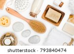 various spa and body care...   Shutterstock . vector #793840474