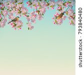 vector background with spring... | Shutterstock .eps vector #793840480