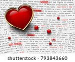 valentines day white background ... | Shutterstock .eps vector #793843660