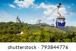 ngong ping cable car with big... | Shutterstock . vector #793844776