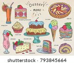 ice cream  apple pie  chocolate ...   Shutterstock .eps vector #793845664