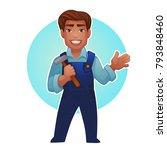 cartoon worker  vector... | Shutterstock .eps vector #793848460