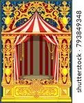 carnival poster template.... | Shutterstock .eps vector #793849348