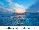 view of a wooden pier on the... | Shutterstock . vector #793852150