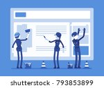 website under construction.... | Shutterstock .eps vector #793853899
