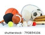 sports equipment on white... | Shutterstock . vector #793854106