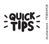 quick tips. vector hand drawn... | Shutterstock .eps vector #793854928