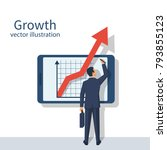 business growth concept.... | Shutterstock .eps vector #793855123