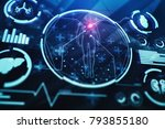 creative medical interface... | Shutterstock . vector #793855180