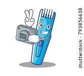 photographer trimmer mascot...   Shutterstock .eps vector #793856638