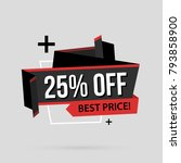 25  off banner template in flat ... | Shutterstock .eps vector #793858900