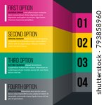 four numbered options in glossy ... | Shutterstock .eps vector #793858960
