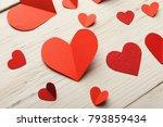 valentine background with... | Shutterstock . vector #793859434