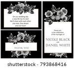 romantic invitation. wedding ... | Shutterstock .eps vector #793868416