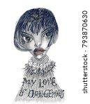 love is dangerous. femme fatale.... | Shutterstock . vector #793870630