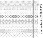 set of vector geometrical... | Shutterstock .eps vector #793872499
