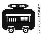 hot dog shop trailer icon.... | Shutterstock .eps vector #793873228