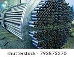 heat exchanger  tube bundle   Shutterstock . vector #793873270