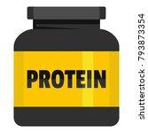 kilogram protein icon. flat... | Shutterstock .eps vector #793873354