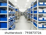 warehouse of components for the ... | Shutterstock . vector #793873726