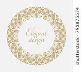 circular arabic pattern. round... | Shutterstock .eps vector #793875574