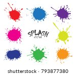 color paint splatters.vector... | Shutterstock .eps vector #793877380