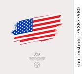 flag of usa in grunge brush... | Shutterstock .eps vector #793877980