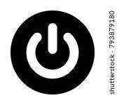 power button circle icon. black ...