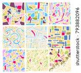 zen tangle pattern   hand drawn ... | Shutterstock .eps vector #793882096