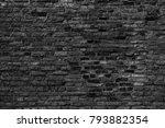 black brick wall texture grunge ... | Shutterstock . vector #793882354