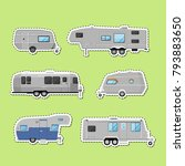 camping trailers isolated...   Shutterstock .eps vector #793883650