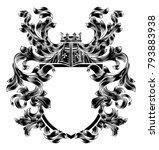 a medieval heraldic coat of... | Shutterstock .eps vector #793883938